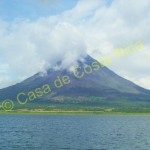 Super impressive views of the Arenal Volcano from the lake
