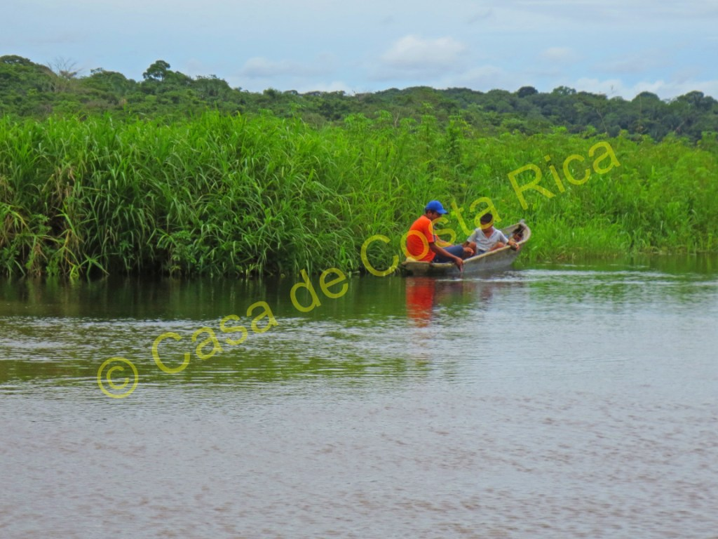 Locals out for the day in their fishing boat.