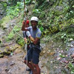 smile in canyoning in Costa Rica