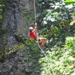 enjoying while canyoning in Costa Rica