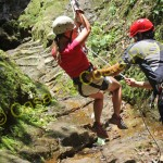 Controlled rappelling means the guides do all the work. All you have to do is hang on and savor the experience!