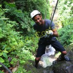 one while canyoning in Costa Rica