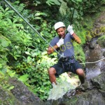 two while canyoning in Costa Rica