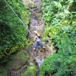 ride while canyoning in Costa Rica