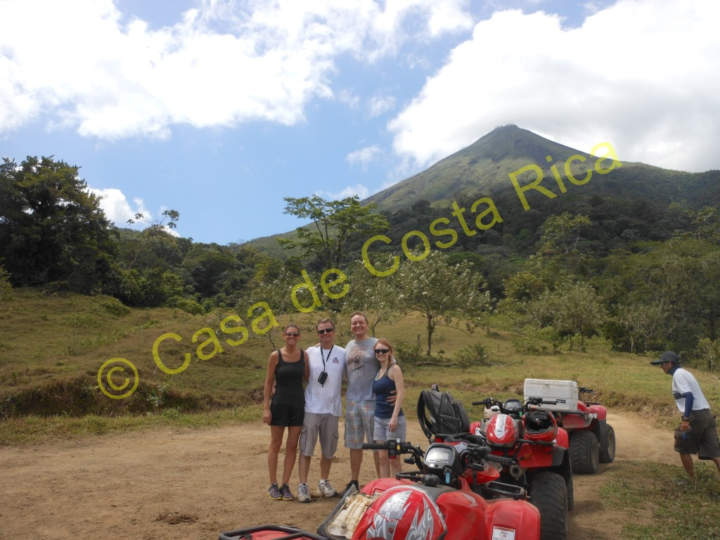 Part of the ATV course with the Arenal Volcano in the background